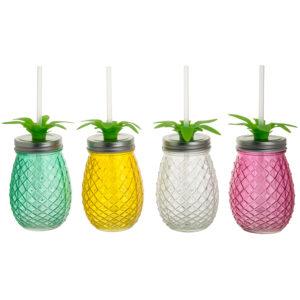 Vasos vidrio colores