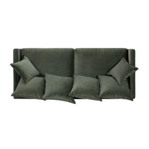 Sofá verde cenital